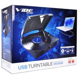 VIBE-Sound-VS-2002-SPK-USB-Turntable-Vinyl-Archiver-Record-Player-w-Speakers