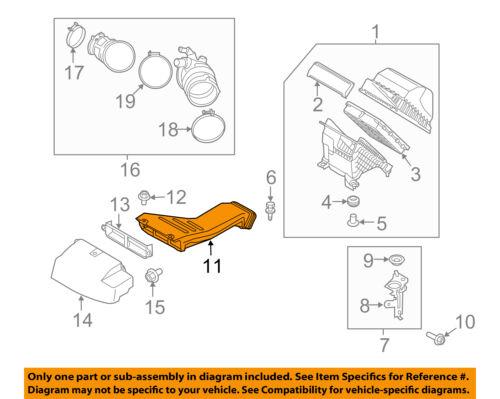 HYUNDAI OEM 17-18 Santa Fe Air Cleaner Intake-Inlet Duct Tube Hose 282104Z700