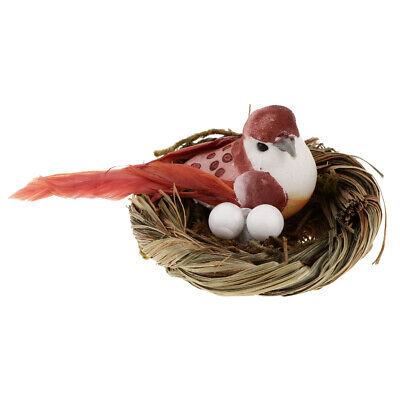 6pcs Creative Handcraft Hanging Bird Nest Tree Ornament Indoor Outdoor Decor