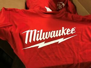 """Milwaukee Power Tools Logo T-Shirt Size 3XL /""""Authentic From Milwaukee/"""""""