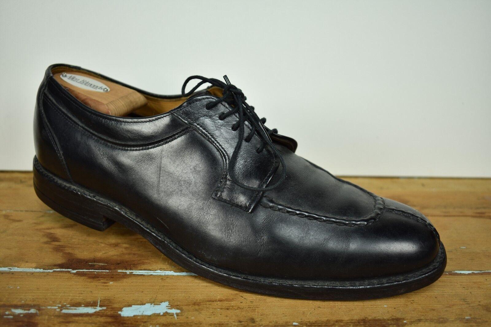 Allen Edmonds Brewster Black Split Moc Toe Lace Up bluecher Men's Size  10D