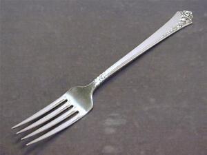 Heirloom Sterling Damask Rose Oneida silver salad fork no mono