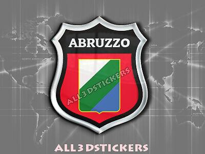 Pegatina Emblema 3D Relieve Bandera Abruzzo Todas las Banderas del MUNDO