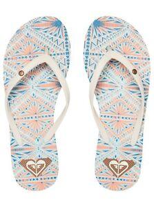 a21109088c2 ROXY Women s Bermuda Flip Flops Cream Select Sizes ARJL100249