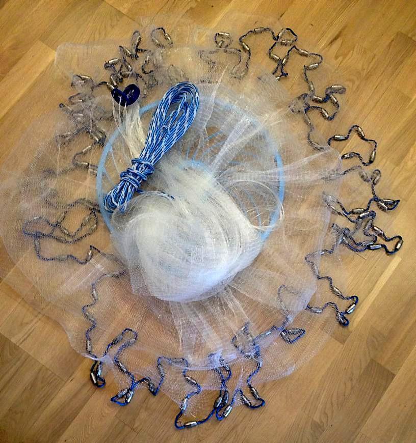 Nr.37,Angelnetz,Cast Net, Neustes Wurfnetz  mit mit  4,88m,Fischnetz,Top Preis 6099d9