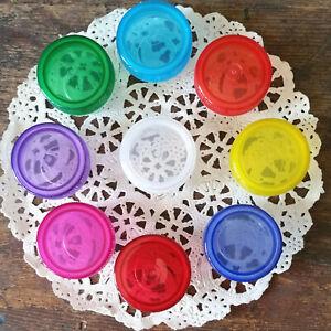 Nine Reusable Plastic Mini JARS Quarter coin size storage container makeup  USA