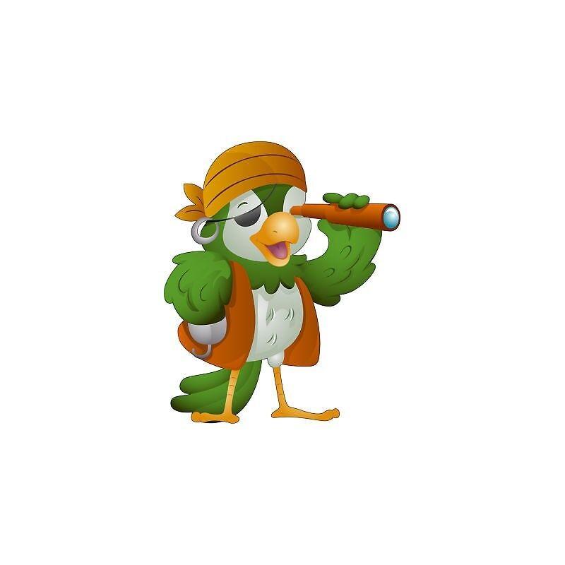 Adesivo bambino Pirata Del Del Del Pappagallo ref 589 3bf77b