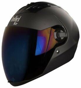 Steelbird-Sba-2-Full-Face-Motorcycle-Matt-Honda-Grey-Helmet-With-Extra-Visor-L
