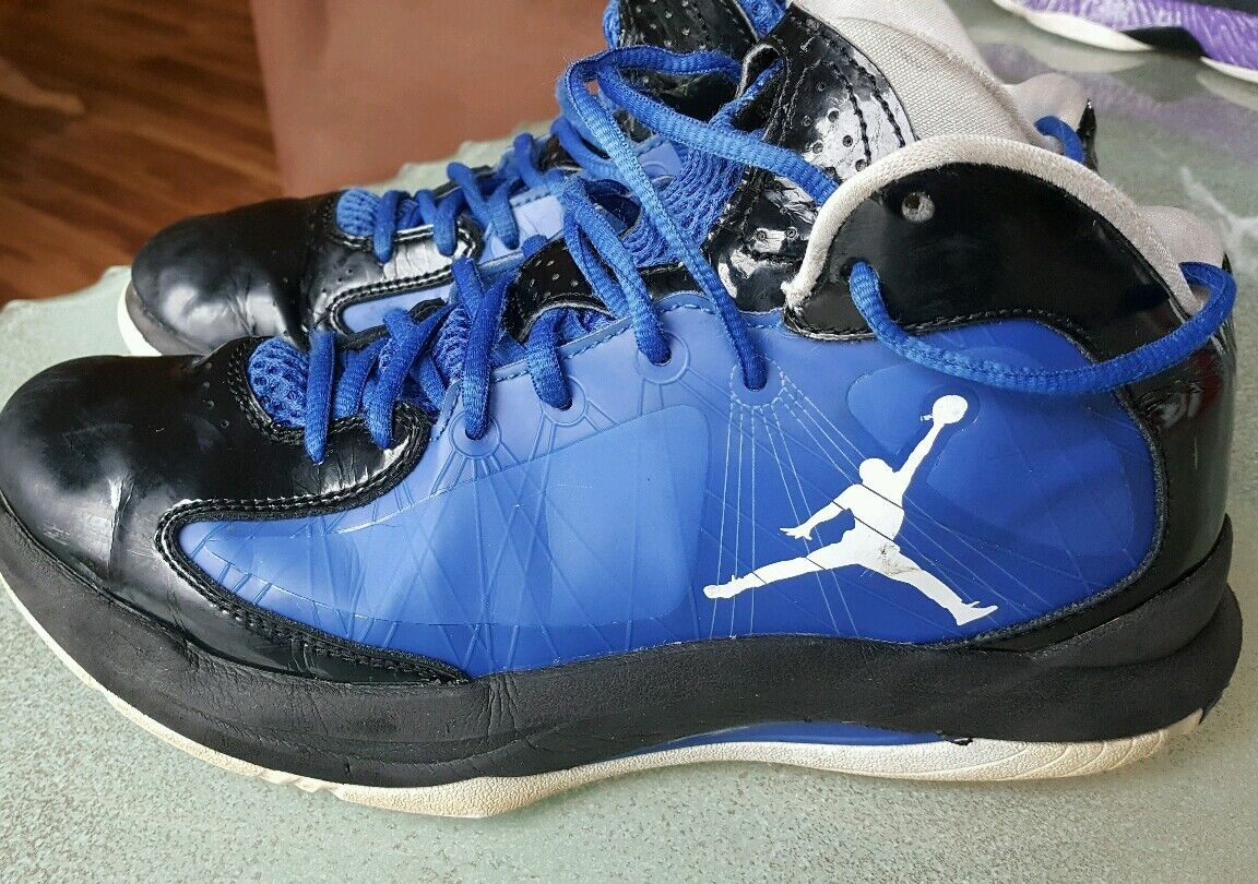 NIKE JORDAN AERO FLIGHT BLACK/GAME ROYAL 524959 042 SIZE mens 8 New shoes for men and women, limited time discount