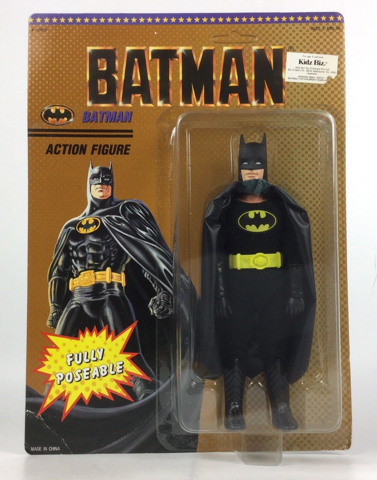 Película de Batman 1989 Raro Australiano exclusivo 8  figura, Kidz Biz, (Mego como) MOC