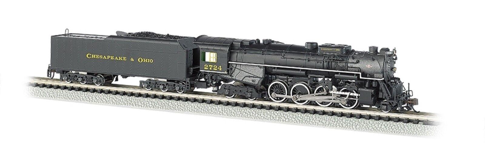 Bachmann Bachmann Bachmann N 2-8-4 Berkshire locomotora de vapor con tender equipado con DCC Che BAC50953 36abe0