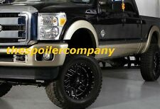 "FULL SET of 4 SMOOTH ""BLACK"" FENDER FLARES FOR FORD F250/F350 2011-2016 NEW"