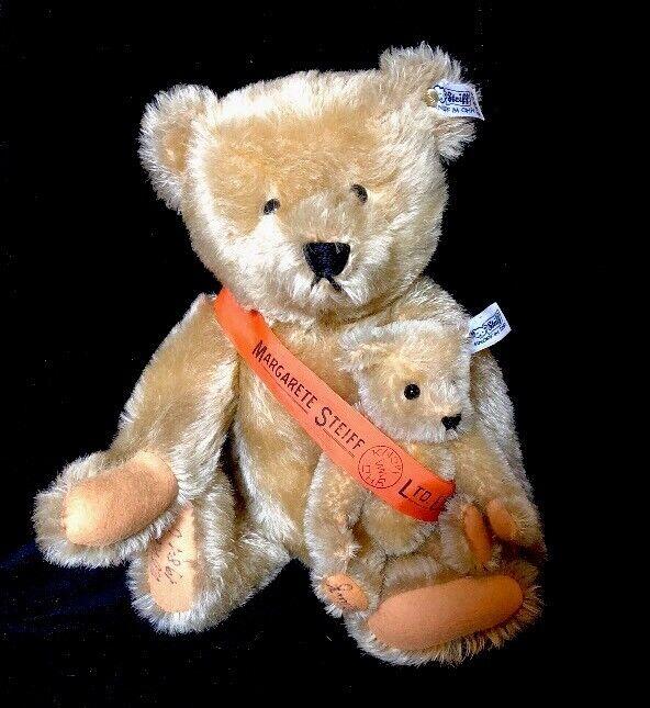 Steiff Mama and Baby Bears 0155/38  5801 Margarete Steiff Limited Edition 1981