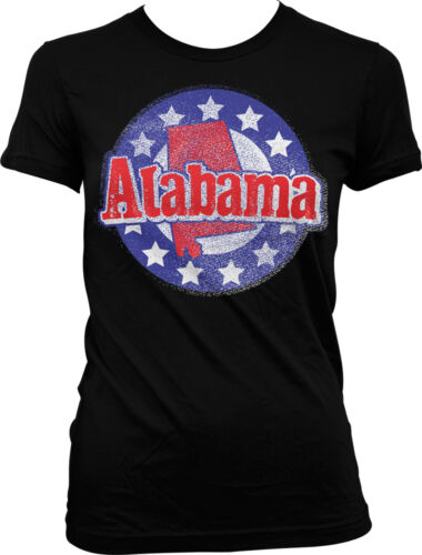Alabama Shape Stars AL Alabaman Yellowhammer Pride Juniors T-shirt