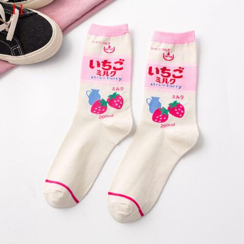 Harajuku Cartoon Women Cute Print Sock Fashion Colorful Funny Kawaii Mid Socks