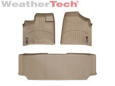 WeatherTech FloorLiner - Dodge Grand Caravan 2nd Row w/ Bench - 2008-2012- Tan