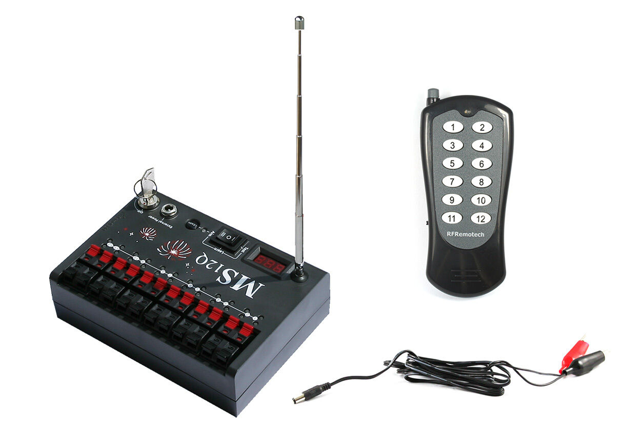 12 Cue Wireless Fireworks Firing System-MS12Q - FCC   CE-konform - rfremotech