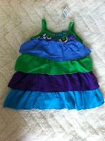 The Childrens Place NWT Baby Girls  6-9M  Purple Tier Layer Dress Spring NWT