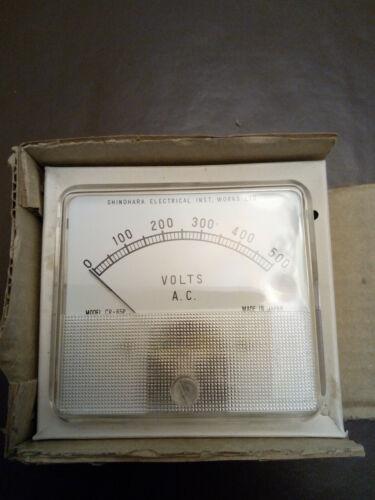 Range up to 500 Volts AC SEW Shinohara Japan Voltmeter CR65P AC Panel Meters