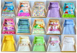 BABYLUX Kinderbettwäsche 3 Tlg. 100  x 135cm Bettwäsche + Nestchen 210x30cm