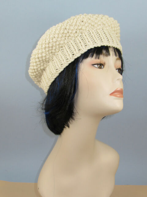PRINTED KNITTING INSTRUCTIONS- CHUNKY MOSS STITCH BERET HAT KNITTING PATTERN
