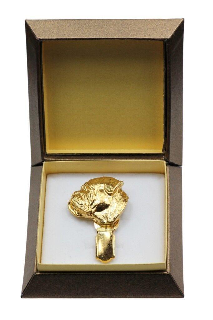 Bullmastiff - clip doré dans une boîte, haute qualité Art Dog FR