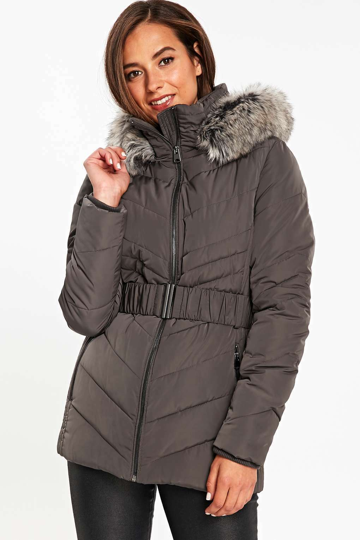 Wallis Belted Short Puffer Coat Mink Size rrp  DH081 KK 02
