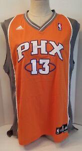 sale retailer eb280 e6af0 Details about Phoenix Suns Jersey Sleeveless NBA Steve NASH Satin Orange  Gray #13 Stiched EUC