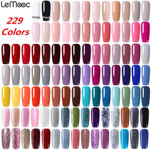 8ml-LEMOOC-229-Couleur-Pure-Vernis-a-ongles-Gel-Polish-Soak-Off-UV-LED-Manucure