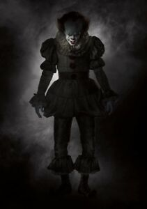 IT-Movie-PHOTO-Print-POSTER-2017-Textless-Art-Pennywise-Stephen-King-Clown-004