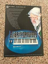 1982 VINTAGE 8X11 PRINT AD FOR Sequential Circuits SYNTHESIZER PRO-ONE COOL ART!