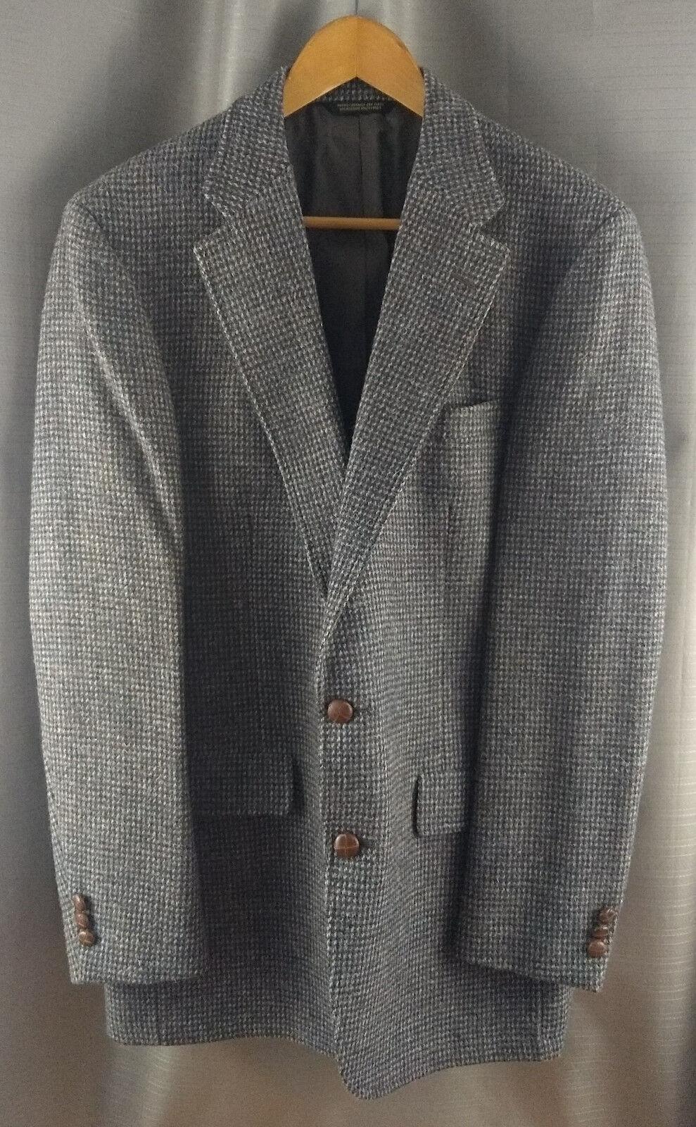 Vintage Palm Beach Tweed Wool Sport Coat Goudchaux Maison whitehe Lined USA