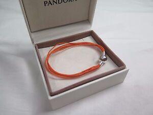 ee793d7ed New Pandora Orange Med Multi Strand Cord Charm Bracelet 590715COEM ...