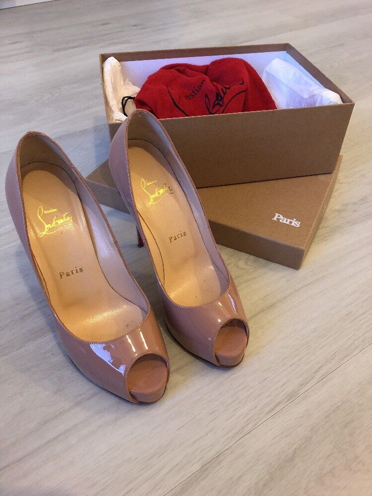 Christian Louboutin New Very Prive 120 Patent Nude
