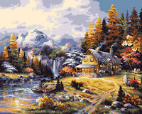 Plaid Mountain Hideaway Paint By Number Kit on sale