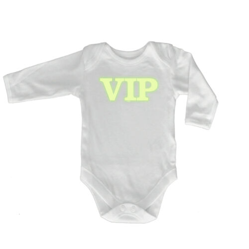 Funny Baby Infants Babygrow Romper Jumpsuit Vip Glow In The Dark