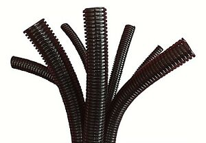 Conduit Split & Non Split / Black Unsplit Flexible Cable Tidy Tube Trunking
