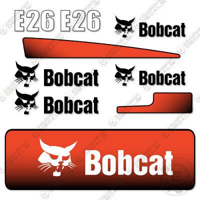 Bobcat E26 Decal Kit Mini Pelleteuse E 26 E-26