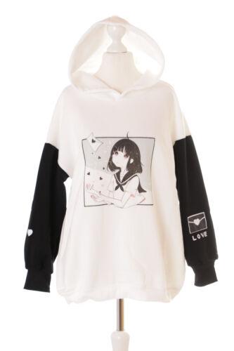 Manga Blanc Noir Sweat Ts 2 Pastel Lettre Amour Kawaii 124 Pull Fille EqUxI4