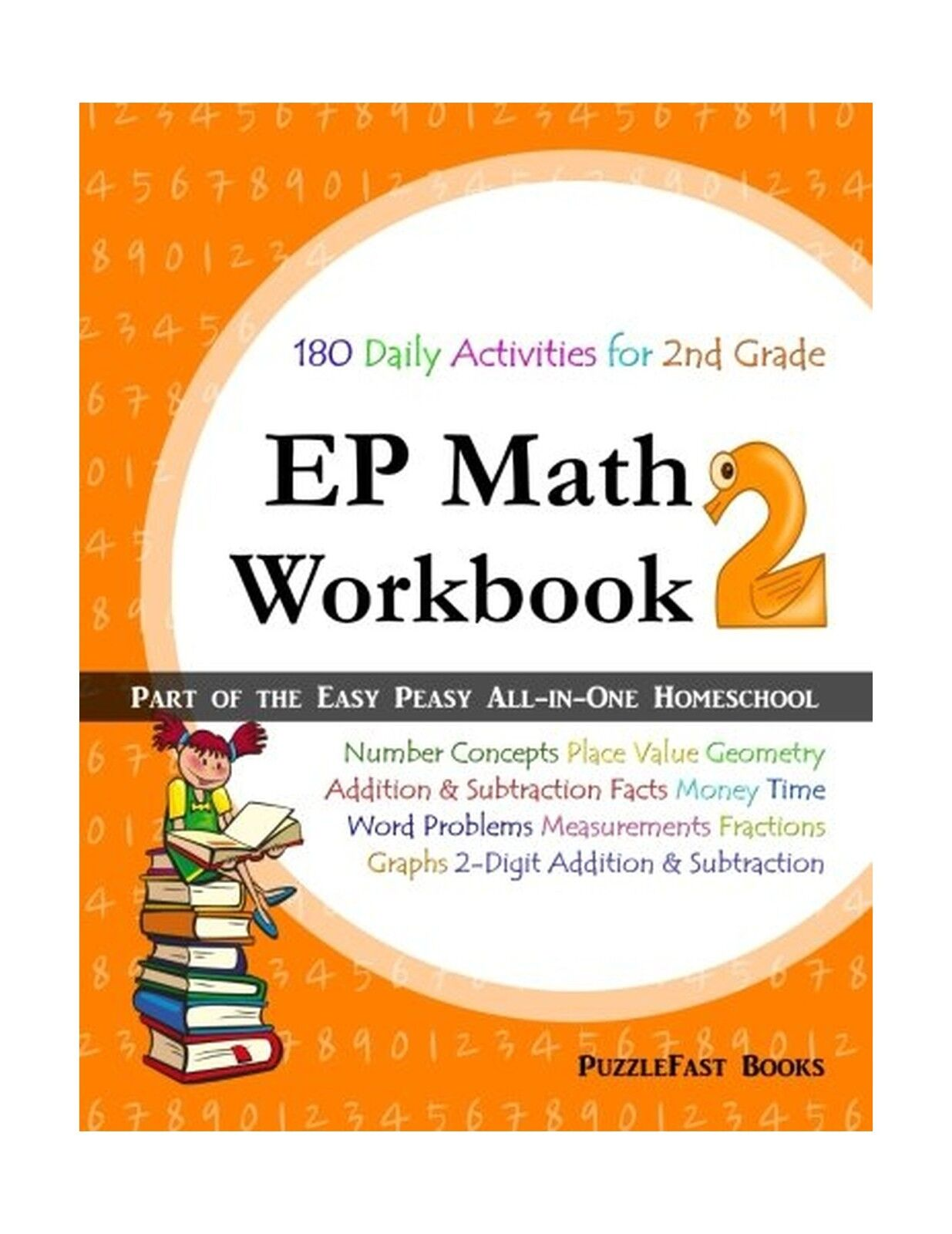 EP Math 2 Workbook : Part of the Easy Peasy All-In-One Homeschool by  PuzzleFast (2016, Paperback, Large Type)