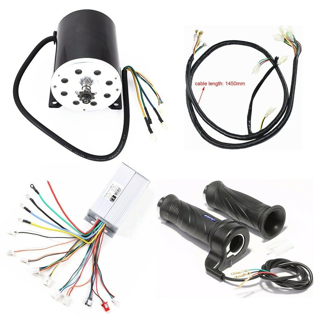 1800W 48V DC Brushless MotorSpeed ControllerThrossotle GripWire Loom Scooter