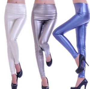 Brillo-brillo-leggings-High-waist-alta-federal-vomite-XS-S-M-L-34-36-38-40-42