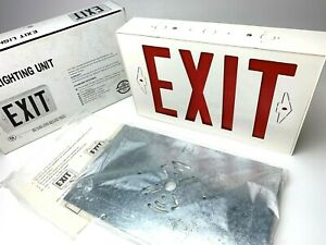 Brand-New-EXIT-SIGN-Exit-Lighting-Unit-with-Manual-and-Mounting-Plate