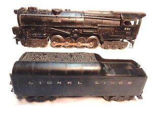 Vintage-Lionel-681-Lionel-Lines-Steam-Turbine-Loco-with-2046W-Whistle-Tender