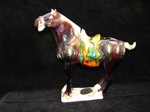 Joli-cheval-en-ceramique-Chine-29-5-cm