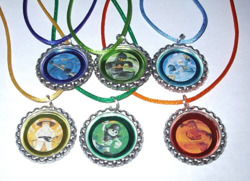 18 LEGO NINJAGO NECKLACE WITH MATCHING COLOR CORDS BIRTHDAY PARTY FAVORS