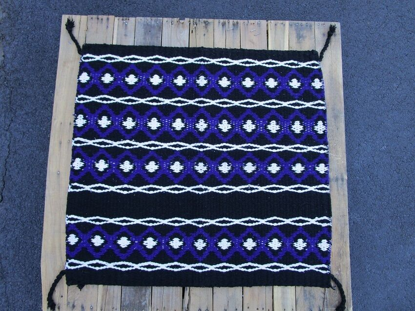 ACRYLIC WOOL SADDLE BLANKET PAD WESTERN SHOW ROPING HORSE TRAIL PURPLE AREA RUGS
