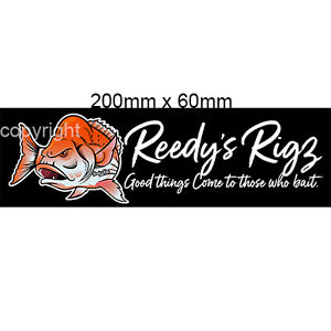 Fishing-Decal-Stickers-Snapper-Boat-Fishing-Tackle-Box-Car-Trailer-Reedys