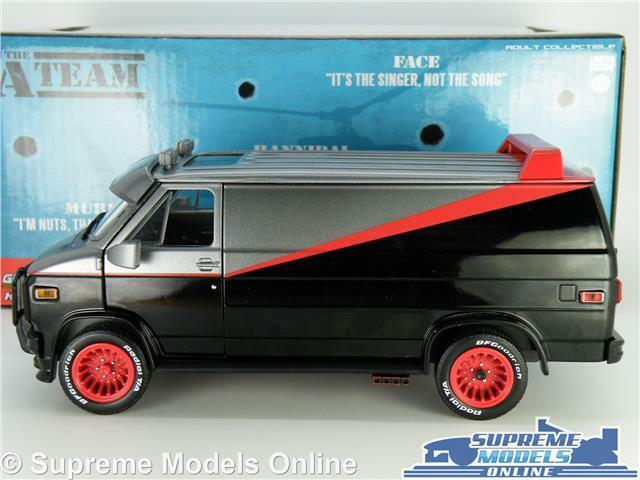 THE A TEAM TEAM TEAM VAN MODEL GMC VANDURA 1983 1 24 Größe LARGE TV A-TEAM GrünLIGHT T3 4d9581
