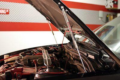 1993-03 Mitsubishi Galant Hood Quick Lift Black Gas Strut Shock Damper Lifters